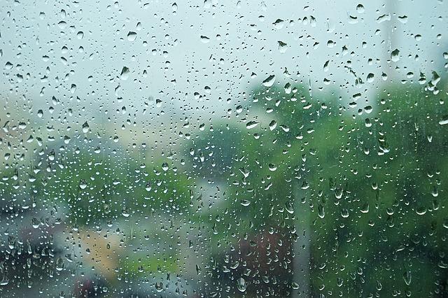 暗い気持ちをあらわす雨模様